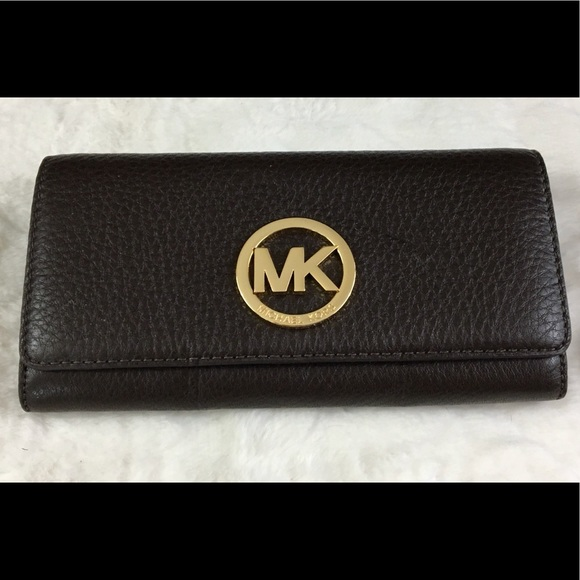 NWT Michael Kors Carryall Fulton Leather Wallet